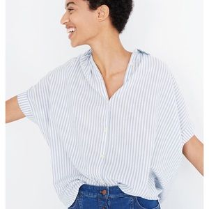 Madewell Central Shirt Blue and white striped M